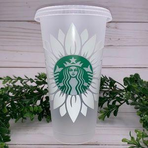 Custom Sunflower Starbucks Venti Cold Cup w/ name